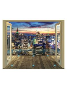 New York City Skyline Wall Mural by Brewster at Gilt
