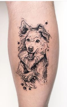 Gray scale Dog Tattoo - tattoo and piercing - Tattoo Dogs Tattoo, Tatoo Dog, Cat Tattoo, Tattoo Drawings, Lion Tattoo, Tattoo Horse, Trendy Tattoos, Popular Tattoos, Piercing Tattoo