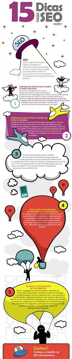 Infográfico: 15 dicas para otimizar projetos de SEO