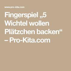 """Fingerspiel """"5 Wichtel wollen Plätzchen backen"""" – Pro-Kita.com"""