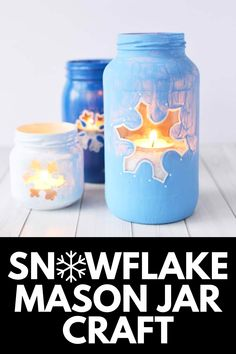 In this tutorial, we show you how to make beautiful glowing mason jars with detailed snowflakes and winter colors! These jars will surprise you with how simple they are to recreate! Get the full tutorial at MomDot.com!