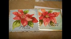 Watercolor Poinsettia Holiday Card