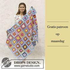 Gratis patroon op maandag - Haakpatroon deken. Ontvang ieder maandag het gratis patroon en een leuke aanbieding van het garen.