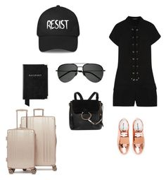 """""""De Londres a Grecia ✈"""" by dacota ❤ liked on Polyvore featuring Roberto Cavalli, Acne Studios, Chloé, CalPak, Aspinal of London and Yves Saint Laurent"""