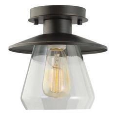 Globe Electric 64846 Oil Rubbed Bronze 1 Light Semi-Flush Mount Ceiling Light #GlobeElectric