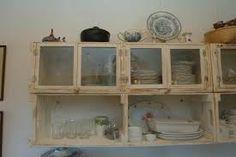 Resultado de imagem para armarios com caixotes de feira