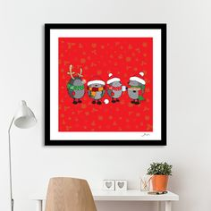 Discover «Ready for Christmas hedgehogs», Numbered Edition Fine Art Print by Igor Karpov - From $20 - Curioos