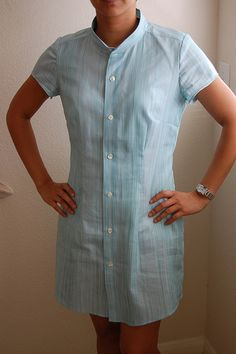 Shirtdresses from Mens Button Down Shirt