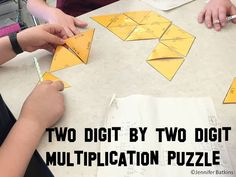 Two Digit by Two Digit Multiplication Puzzle, good for math center activities or interactive notebook (INB).