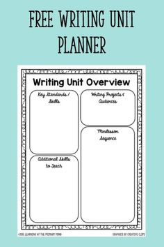 How to plan writing