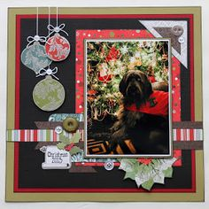 Scrappy Chick Designs: A Christmas Layout~
