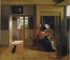Scène d'Intérieur avec une mère épouillant son enfant (Le devoir d'une mère), de Pieter de Hooch, 1658-1660.(Image Department Rijksmuseum, Amsterdam, 2009 )