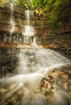 Waterfalls, Geary County Lake, south of Junction City, Ks