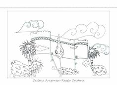 Avete mai visto una città attraverso gli occhi di un pesce a righe? Noi Reggio Calabria la vediamo così... da vivere e colorare a modo nostro!   #Castello #Aragonese #ReggioCalabria #Grammateca #Cartoline  #Illustrazioni #CristinaComi Reggio, Moose Art, Animals, Teak, Animales, Animaux, Animal, Animais