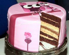 Tortentante - Der grosse Tortenblog mit Anleitungen, Rezepten und Tipps für Motivtorten: Rosa, pink und lila - mal eine Torte in Mädchenfarben von mir ;-)