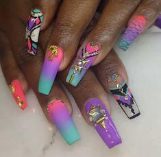 Beauty Nails, Hair Beauty, Cute Nail Art Designs, Girly Things, Girly Stuff, Hot Nails, Nail Inspo, You Nailed It, Acrylic Nails