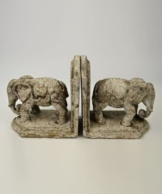 Look at this Elephant Bookends on #zulily today!