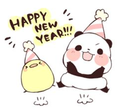 Yururin panda winter ver. – LINE stickers | LINE STORE Chibi Panda, Panda Kawaii, Chibi Cat, Cute Panda, Panda Bear, Happy New Year Pictures, Cute Pictures, Panda Lindo, Panda Drawing