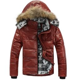 Check it on our site Men Motorcycle Warm Leather Winter Jacket Real Natural Fur Hooded Thickening Down Cotton Jackets Mens Long Sleeve Coat Parkas just only $33.38 with free shipping worldwide  #jacketscoatsformen Plese click on picture to see our special price for you