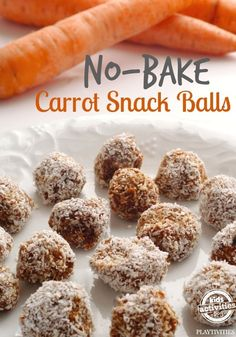 Carrot raw food balls: grated carrot, sunflower seeds, dates/dried figs/dried apricots, honey/maple, cinnamon/cacao and dessicated coconut in mic and to roll in :) yum!