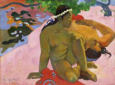 Are You Jealous? by Paul Gauguin in oil on canvas, done in Now in Pushkin Museum of Fine Art. Find a fine art print of this Paul Gauguin painting. Paul Gauguin, Gauguin Tahiti, Fondation Louis Vuitton, Expositions, Oil Painting Reproductions, Gustav Klimt, Henri Matisse, Museum Of Fine Arts, Van Gogh