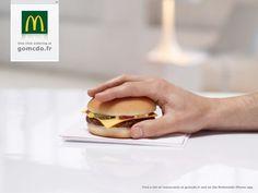 McDonald's: One clic ordering at GoMcDo #print #design #creative #ads