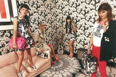 Florence Broadhurst design in action - fashion looks by Kate Spade = awesome!