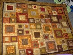 I have this fabric, 24 3/8 yard pieces of shades of brown.  Shall I make this?