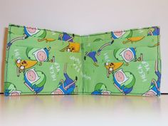 Adventure Time Handmade Fabric Bi-Fold Wallet by CosplayMommas only one available
