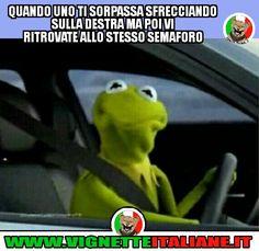 Incontrarsi al semaforo (www.VignetteItaliane.it)