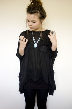 Yes! Totally want that outfit. All the black with the jewellery.. Love it!