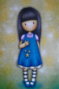 Gorjuss 2 Cute Images, Cute Pictures, Dibujos Baby Shower, Dibujos Cute, New Dolls, Cute Illustration, Doll Face, Fabric Painting, Illustrations