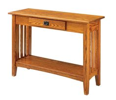mission console table | Amish Mission Hall Table or Console Table - Keystone Collection ...