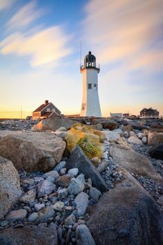 Old Scituate Lighthouse in Scituate Ma , United States