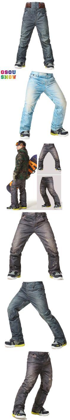 GSOU SNOW Brand Ski Pants Men Snowboard Pants Waterproof Breathable Snow Trousers Male Winter Mountain Skiing Snowboarding Sport