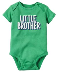 Carters Baby Boys Little Brothers Bodysuit, Infant Boy's, Size: 12 Months, Green Toddler Boy Outfits, Baby & Toddler Clothing, Kids Outfits, Carters Baby Boys, Baby Kids, Cute Bodysuits, Little Brothers, Baby Necessities, Baby Wearing
