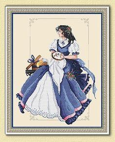 Romantic Stitcher Cross Stitch Kit Embroidery Patterns by Passione Ricamo Modern Embroidery, Embroidery Art, Cross Stitch Embroidery, Embroidery Patterns, Cross Stitch Patterns, Cross Stitch Angels, Cross Stitch Books, Art Du Fil, Vintage Cross Stitches