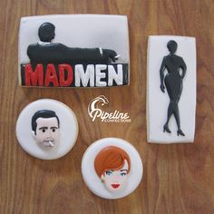 Jim Beam flavored Mad Men cookies by Pipeline Confections