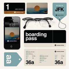 Experiments are fun and cause us to see things differently. Experimental ID for American Airlines by Anna Kovecses, via Behance.