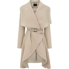 OASIS Textured Drape Coat ($73) ❤ liked on Polyvore featuring outerwear, coats, jackets, coats & jackets, sweaters, drape coat, textured coat, oasis coat, pink coat and wrap coat