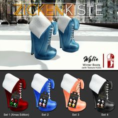 NEW RELEASE!!! Still looking for to warm your feet while exploring and enjoying the Winter and Christmas Bazaar/Market? Zickenkiste – Wylie Boots warm your feet and its comfy :) Compatible wi…