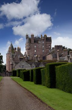 Glamis Castle ~ 14th century castle and the late Queen Mother's childhood home, Highlands of Scotland.