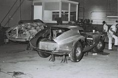 The prototype Shelby Daytona Coupe, CSX2287, comes to life at California Metal Shaping in late 1963. Photo: Friedman