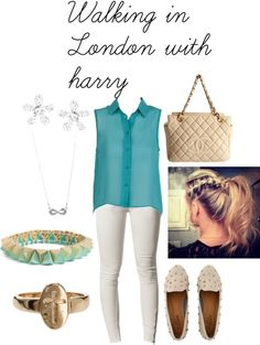 """""""walking in london with harry"""" by adriana-diaz ❤ liked on Polyvore"""