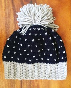 Items similar to Handmade cute beanie with grey pattern over black topped with a cute messy pompom custom order on Etsy Handmade Items, Handmade Gifts, Grey Pattern, Cute Bunny, Integrity, Daily Inspiration, Beautiful Things, Portugal, Winter Hats