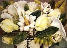 Magnolias, Oil by Frida Kahlo (1907-1954, Mexico)