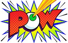 One of the iconic forms of pop art is the comic art splash balloon. Here's my take, I call it POW POW Pop Art Boom, Trill Art, Vintage Comics, Love Painting, Quilting Projects, Art Lessons, Comic Art, Street Art, Volunteer Appreciation