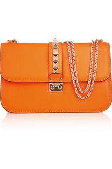 Valentino Glam Lock studded leather shoulder bag | NET-A-PORTER