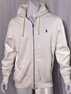 Polo Ralph Lauren full zip classic hoodie size large  NEW with TAGS white #PoloRalphLauren #Hoodie
