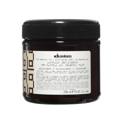 Alchemic Conditioner Chocolate. Colour conditioner suggested to enhance natural or cosmetic dark brown to black hair. HOW TO USE: Evenly apply a suitable amount of product on washed damp hair. Leave to work for 5 to 8 minutes, comb through, then rinse.
